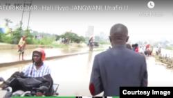 Hali ilivyokuwa katika eneo la Jangwani mjini Dar es Salaam baada ya mvua kubwa kunyesha Jumanne, Oktoba 13, 2020. Picha kwa hisani ya Global Publishers TV, Tanzania.