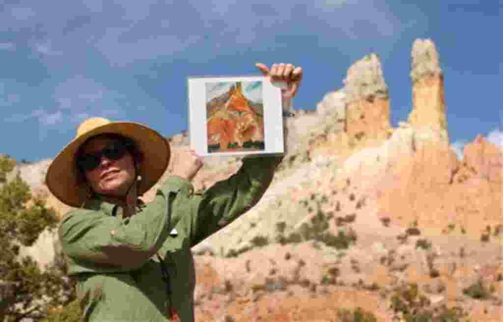 La artista Georgia O'Keefee inmortalizó con su arte el paisaje de la región de Nuevo México.