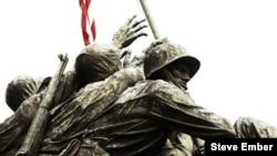 Detail from Felix de Weldon's sculpture, Iwo Jima Marine Corps Memorial, Arlington, Virginia