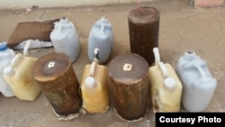 IEDs, filled with homemade explosives in Iraq. (Credit: Janus Global)
