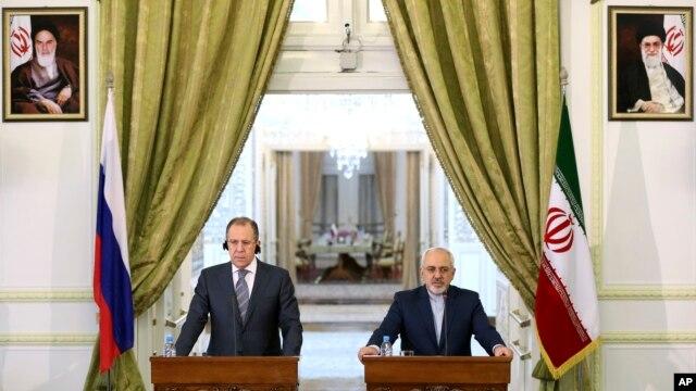 Министры иностранных дел России и Ирана Сергей Лавров и Мохаммад Джавад Зариф (архивное фото)