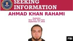 Lệnh truy nã nghi can vụ đánh bom ở New York và New Jersey.
