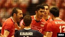 عکس آرشیوی از تیم ملی والیبال ایران در مسابقات انتخابی المپیک ریو