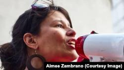 Venezuelalı kadın hakları savunucusu Aimee Zambrano