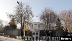 美國駐安卡拉的大使館外觀。