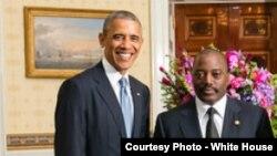 Le président Barack Obama et son homologue congolais Joseph Kabila, lors d'une visite du président de la RDC à la Maison Blanche (Photo Maison Blanche) W