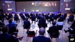 Выступление Владимира Путина на Петербургском международном экономическом форуме в Санкт-Петербурге, 4 июня 2021 года.