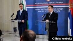 Ministri spoljnih poslova Bugarske i Srbije, Danijel Mitov i Ivica Dačić (mfa.gov.rs)