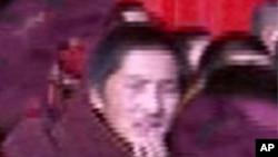 ພະ Lobsang Gyatso ແຫ່ງທິເບດ ເອົາໄຟເຜົາຕົວເອງຕາຍ ໃນວັນຈັນວານນີ້ໃນແຂວງຊີສວນໃນພາກຕາ ເວັນຕົກສຽງໃຕ້ຂອງຈີນ. ວັນທີ 13 ກຸມພາ 2012.
