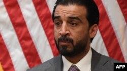 အီရတ္လႊတ္ေတာ္ဥကၠ႒ Mohammed al-Halbousi အေမရိကန္ျပည္ေထာင္စု၊ ၿမိဳ႕ေတာ္ ဝါရွင္တန္ဒီစီကို ေရာက္လာစဥ္။ (မတ္ ၂၉၊ ၂၀၁၉)