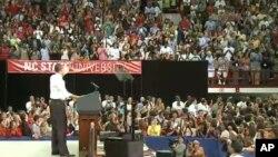 صدر اوباما اپنے جابز بل کے لیے عوامی حمایت کی مہم پر