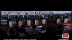 美國共和黨參選人再次辯論 川普成中心人物