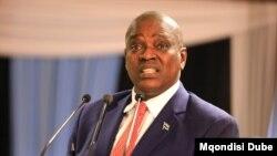 "Botswana President Mokgweetsi Masisi says the army will defend the country against ""intruders."" (Mqondsisi Dube/VOA)"