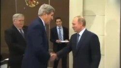 جان کری و ولادیمیر پوتین در روسیه درباره مسائل مهم جهانی گفتگو کردند