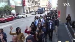 香港示威者抗争不息 午饭时间再上街快闪