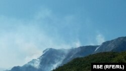 Bosnia and Herzegovina-- Fires near Jablanica, August 15, 2021