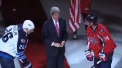 克里國務卿為奧運冰球選手祝福