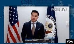 알렉스 웡 국무부 대북특별부대표가 1일 워싱턴의 전략국제문제연구소 CSIS 화상 세미나 기조연설을 했다.