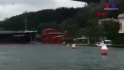 İstanbul Boğazı'nda Kargo Gemisi Yalıya Çarptı