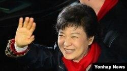박근혜 한국 대통령 당선자. (자료사진)