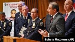 뉴욕경찰국(NYPD)과 미 연방검찰 등 뉴욕· 뉴저지 폭탄공격 사건 수사당국 관계자들이 19일 수사 진행상황을 브리핑하고 있다.