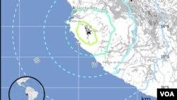 El sismo de 6,3 de magnitud se ubicó cerca de la costa central de Perú, según informa el Servicio Geológico en Estados Unidos.