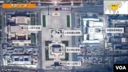 天安门广场爆炸事件示意图