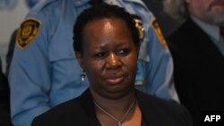 Bintou Keita (G) mosungi ya Kalaka mokonzi ya ONU na Afrika, na New York, 29 mars 2019.