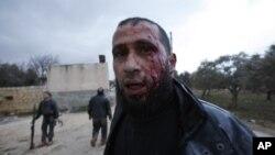 Rebelde sirio ferido