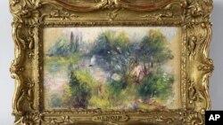 """Bức tranh """"Bờ sông Sein"""" của danh họa Renoir, bị đánh cắp từ một viện bảo tàng cách nay hơn 60 năm."""