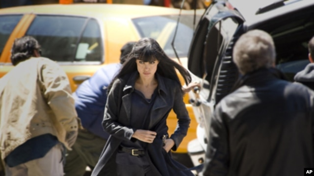 Angelina Jolie stars as Evelyn Salt in Columbia Pictures' contemporary action thriller 'Salt.'