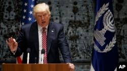Tổng thống Donald Trump đang công du Israel