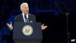 조 바이든 미국 부통령이 지난 3월 미국·이스라엘공공정책위원회 행사에서 연설하고 있다. (자료사진)