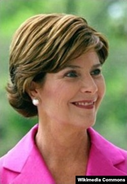 Laura Welch Bush grew up in the same town as her husband.