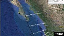 El fenómeno natural sigue su paso por costa oeste de México.