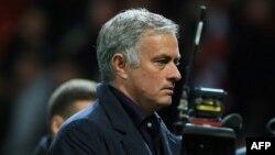 Jose Mourinho, lors d'un match entre Manchester United et Valence, Angleterre, le 2 octobre 2018.