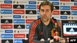 El director técnico de España, Julen Lopetegui, fue despedido dos dias antes del inicio del Mundial de Rusia 2018.