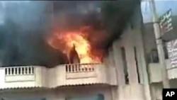 敘利亞反對派說倒戈軍人襲擊了首都大馬士革郊區的一個情報大樓