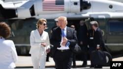 2018年6月9日美國總統特朗普與當時美國駐加拿大大使克拉夫特