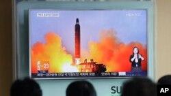 朝鲜星期三表示进行弹道导弹试验