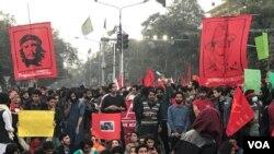 29 نومبر کو پاکستان کی مختلف یونیورسٹیز کے طلبہ نے طلبہ یکجہتی مارچ کا اہتمام کیا تھا۔ (فائل فوٹو)