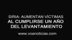 Siria: aumentan víctimas al completarse un año del levantamiento