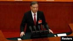 全國政協主席汪洋在中國政協年度會議上作工作報告。(2021年3月4日)