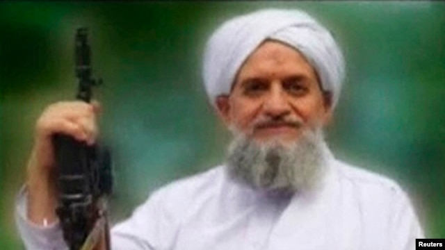 FILE - Ayman al-Zawahiri seen in this still image taken from a video released in September 2011.