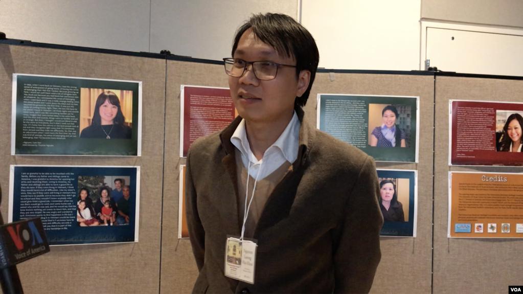 Ông Nguyễn Lương Hải Khôi trả lời phỏng vấn VOA bên lề hội thảo về nền cộng hòa và các giá trị Cộng hòa của miền Nam Việt Nam
