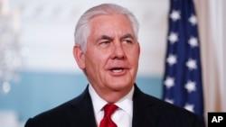 美國國務卿蒂勒森 (資料圖片)