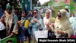 مریم نواز سے یکجہتی کے پہنچے والی مسلم لیگ (ن) کی کارکن
