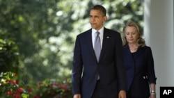 Le président Obama et Mme Clinton