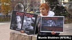 Акция «Бессмертный ГУЛАГ» у Соловецкого камня на Лубянке