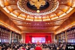 羊年台商联谊会在台北的圆山大饭店举行。(美国之音记者方正拍摄)